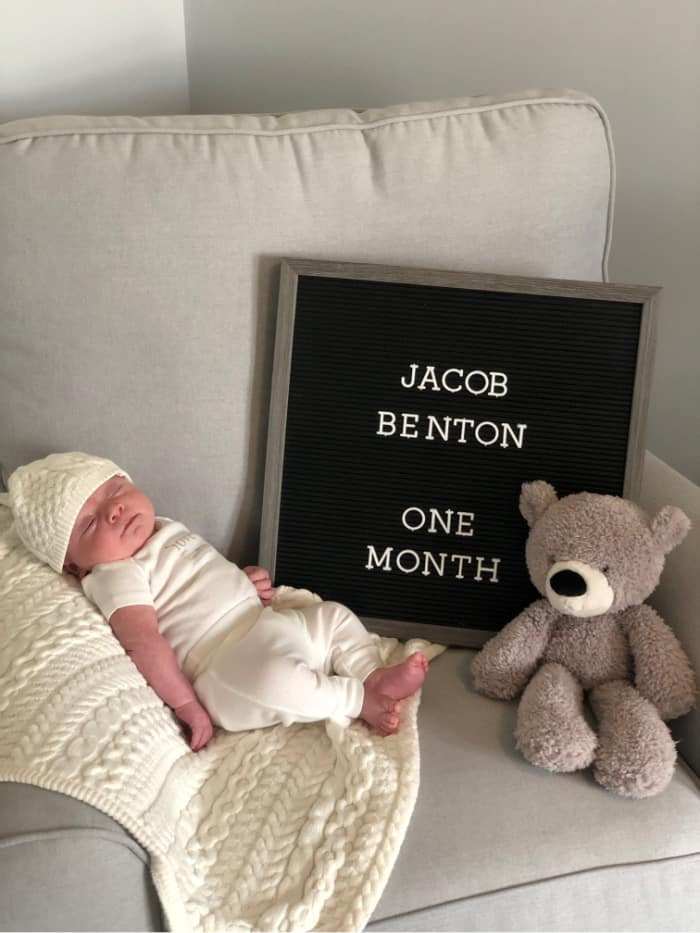 Jacob at one month old
