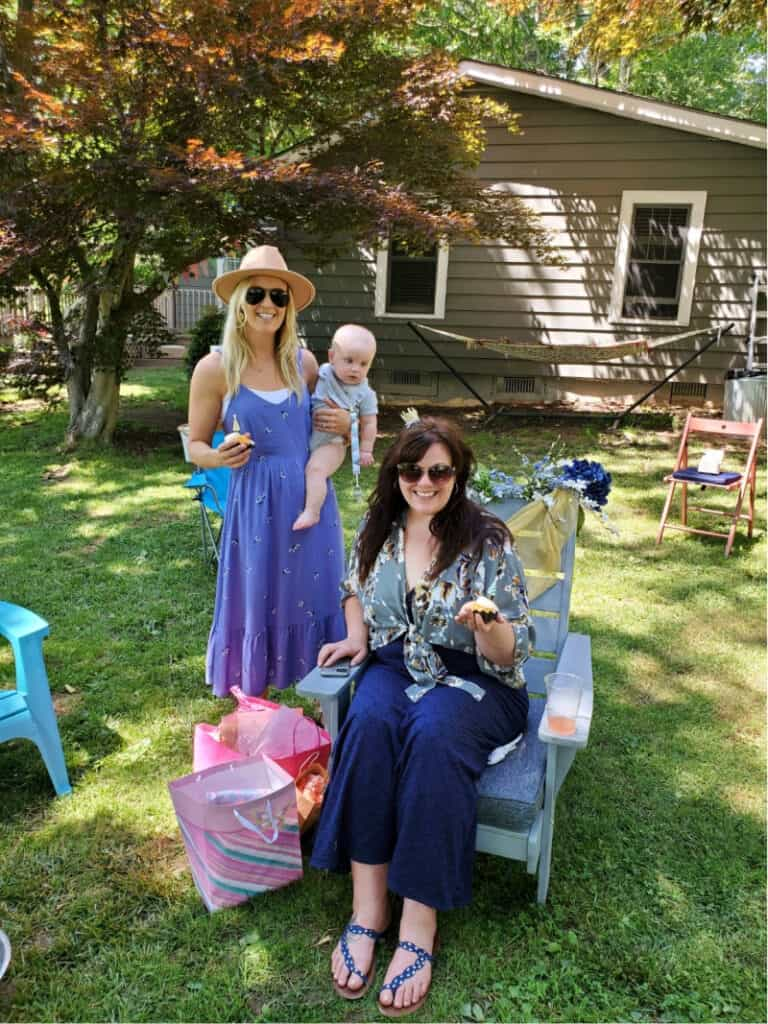 Jacob, Lindsey and sister Heather at her 40th birthday party in Asheville