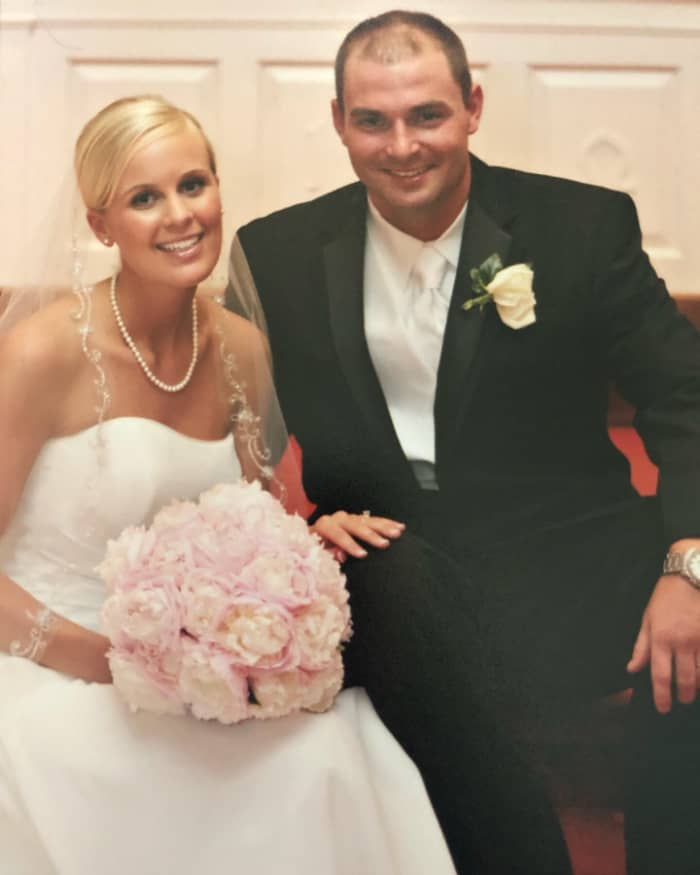 Lindsey and Joey on their wedding day