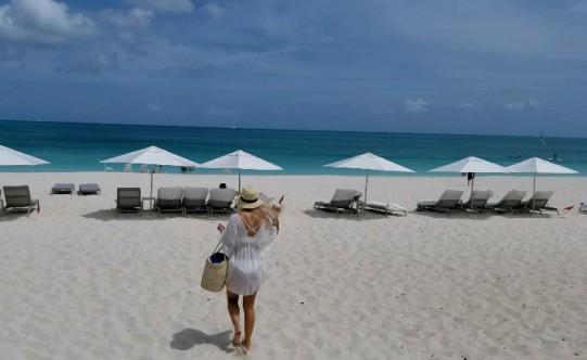 Lindsey at Grace Bay Beach