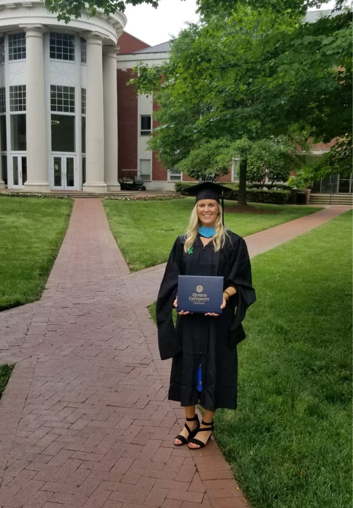 Lindsey at graduation
