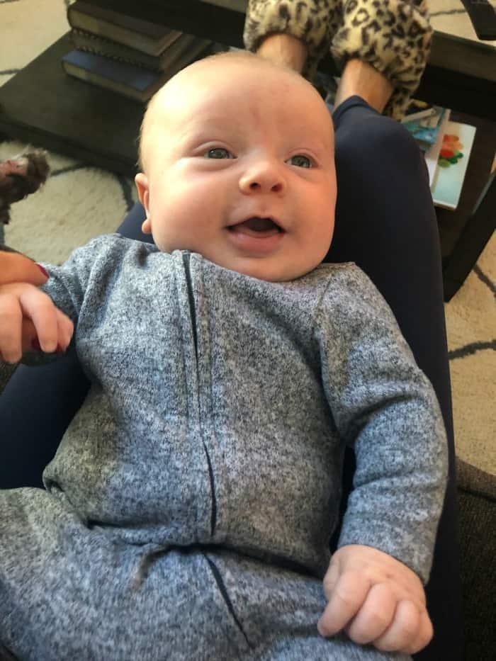 Jacob smiling at 7 weeks