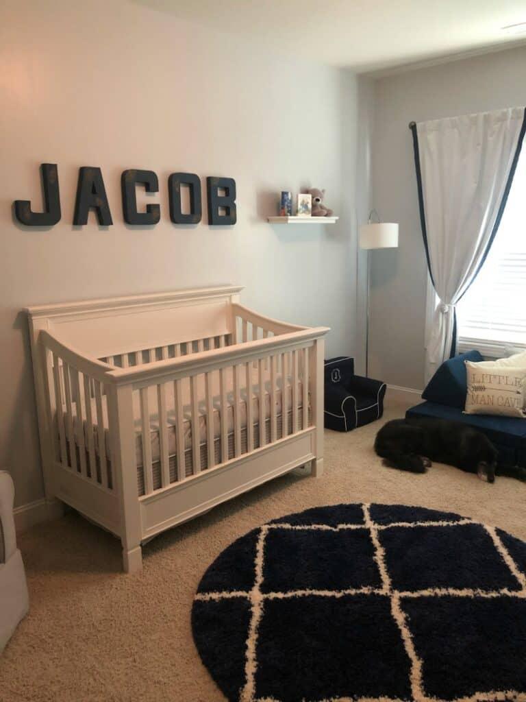 Jacob's nursery and crib