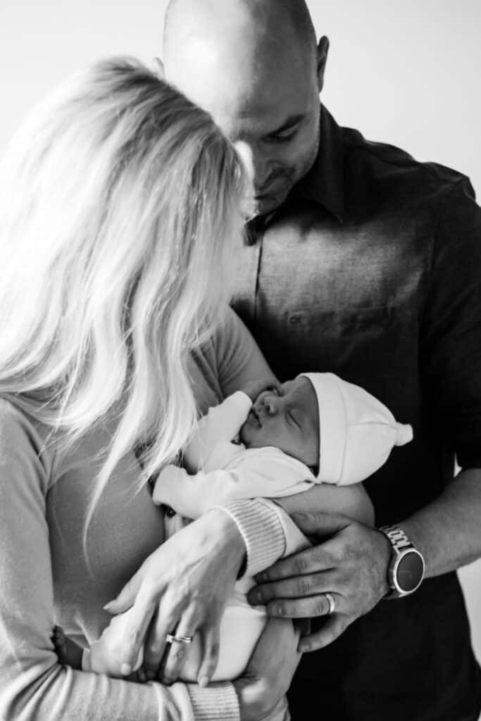 Jacob, Joey and Lindsey newborn photo