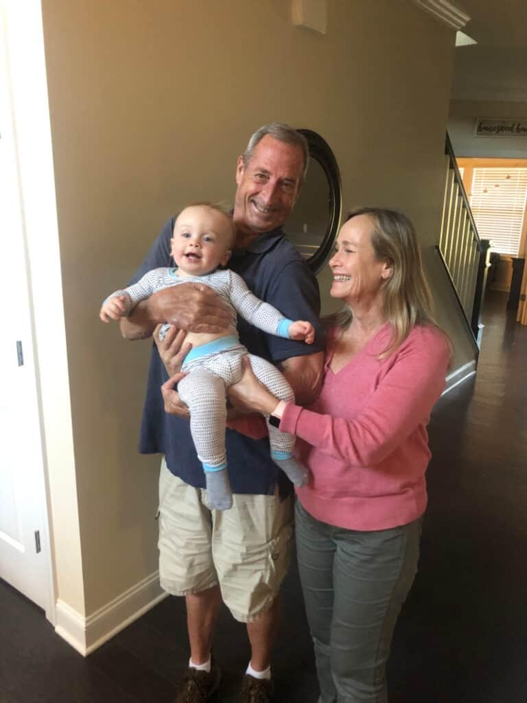 Grammy & Grampy holding Jacob