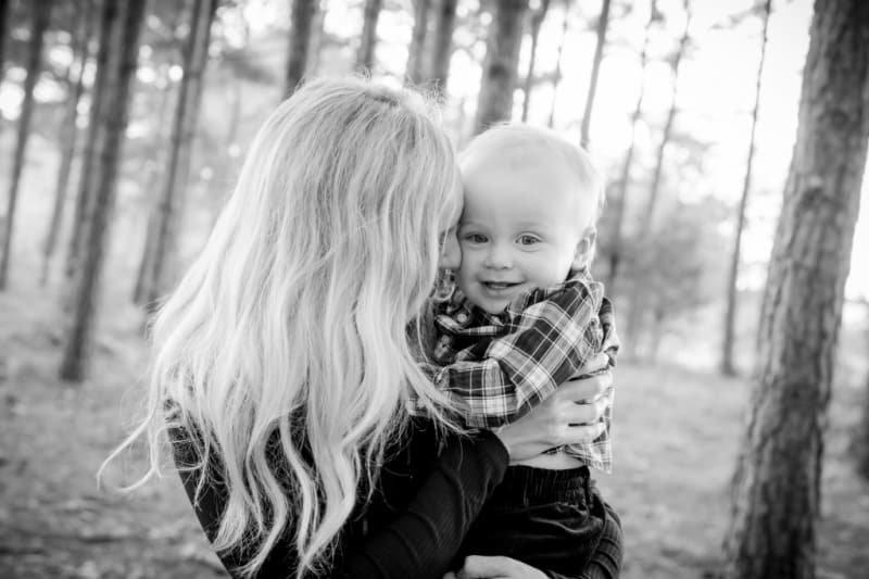 Jacob and Lindsey black and white professional picture
