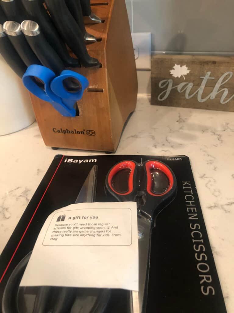The new kitchen scissors