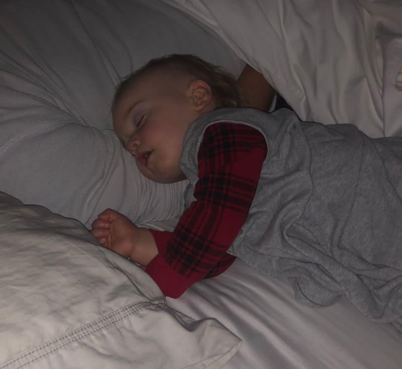 Jacob asleep on Christmas Eve