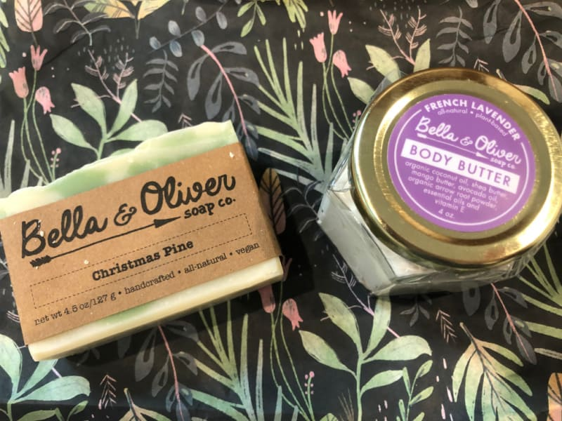 Christmas soap and body butter