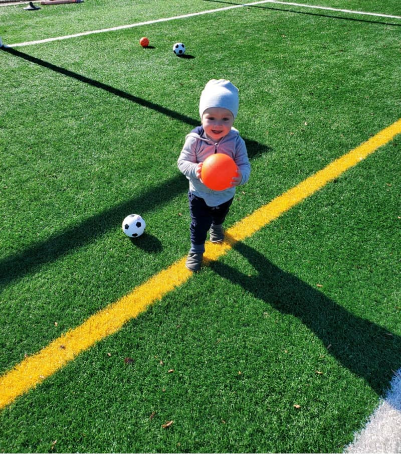 Jacob at the soccer field
