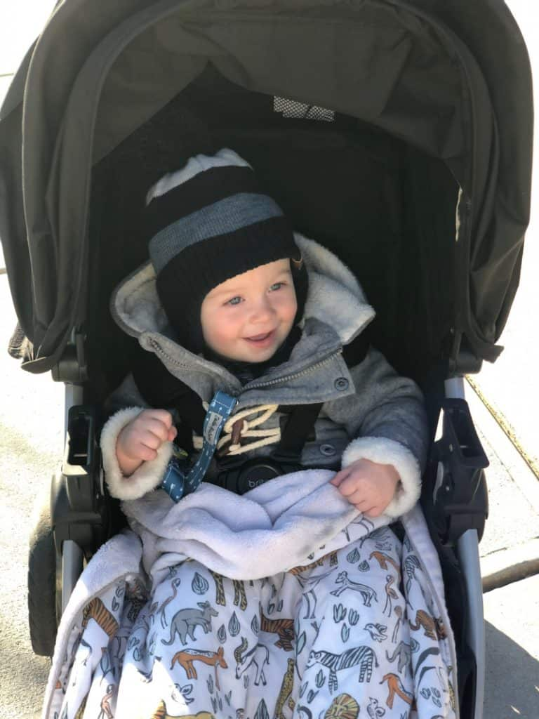 Jacob in the stroller